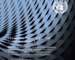 Trends on climate finance report