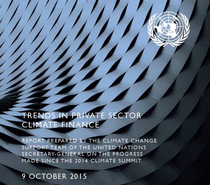 Informe de Naciones Unidas sobre las tendencias en el sector privado en relación al cambio climático