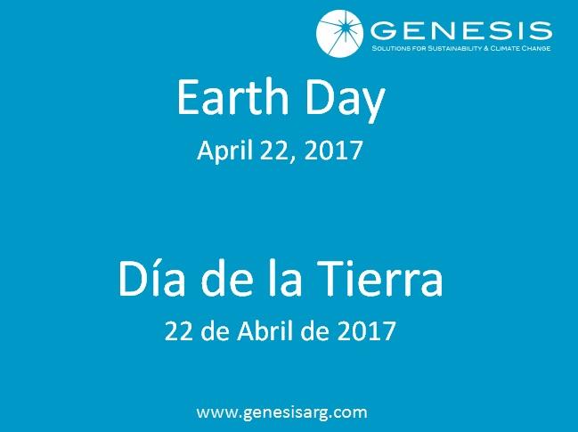Día de la Tierra  22 de Abril de 2017