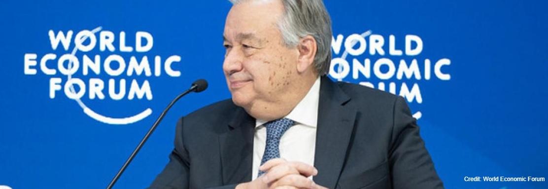 """António Guterres: """"El cambio climático es la mayor amenaza a la economía global""""."""