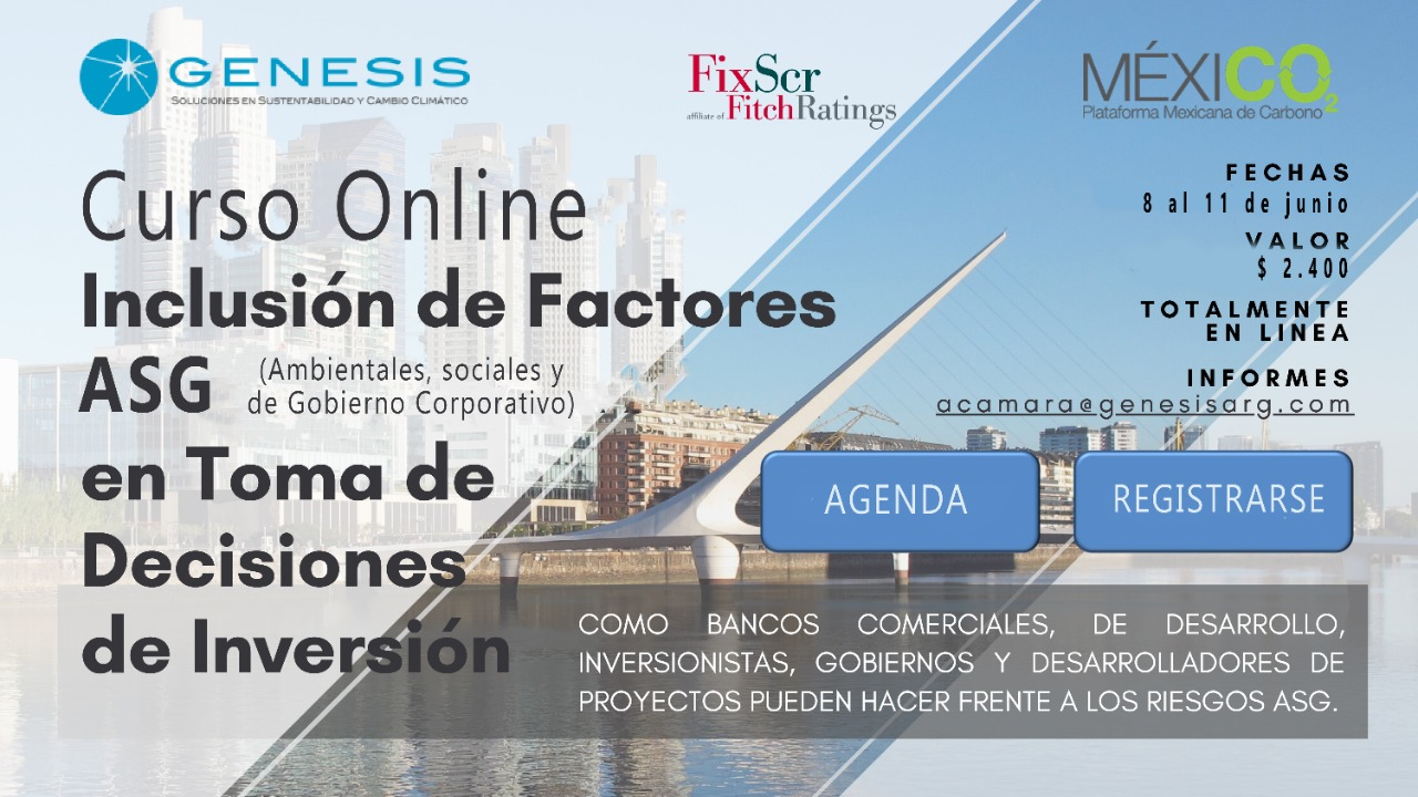 Online Course: Inclusion of ESG ( Environmental, Social and Governance) factors in decision making
