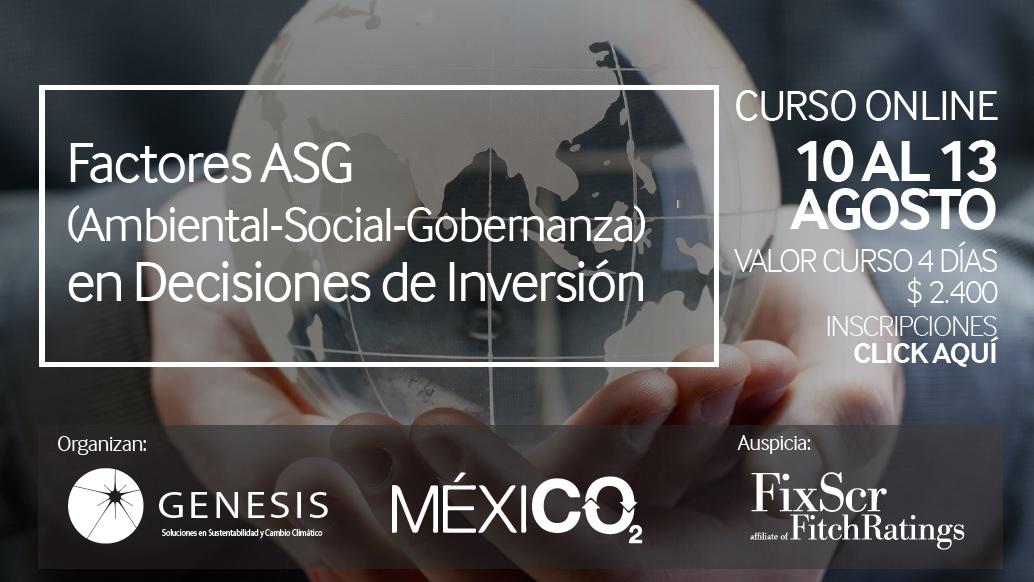 CURSO ONLINE: Factores ASG (Ambiental-Social-Gobernanza) en Decisiones de Inversión