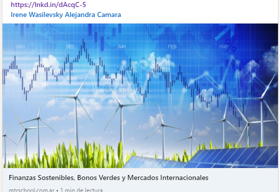 MATBA ROFEX invita a este curso de Financiamiento Sostenible